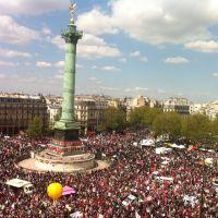 Imyigaragambyo y'Impuruza izabera i Paris, PLACE DE LA BASTILLE kuwa kane , le 29/1/2015.