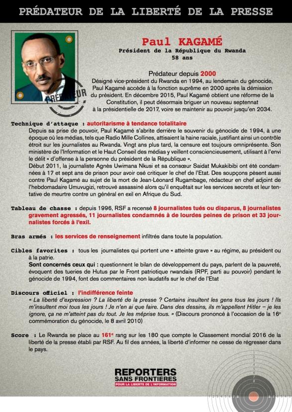 Kagame Prédateur