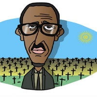Portrait of Paul Kagame - President of the Republic of Rwanda