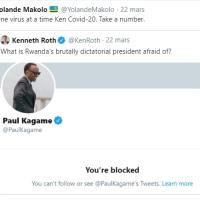 """""""Tu es un virus""""- les autorités rwandaises menacent le Directeur de Human Rights Watch."""
