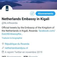 Scandale à l'ambassade des Pays-Bas au Rwanda.